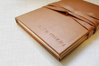 leather journal book tutorial-recover a journal