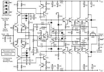 400W Stereo Marshall Leach Amplifier devreler 2018 t