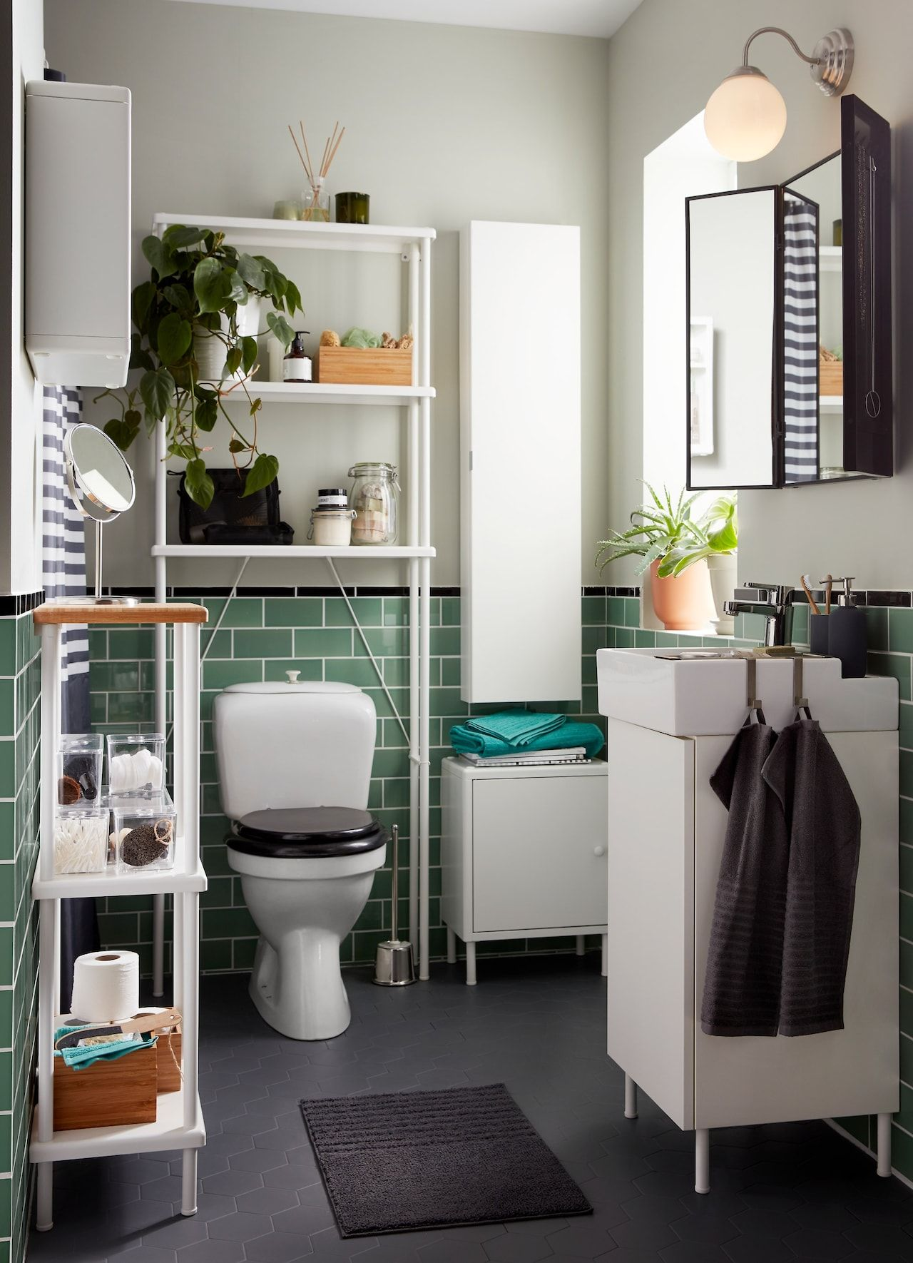 More Space You Didn T Know You Had Small Bathroom Makeover Small Bathroom Remodel Small Master Bathroom