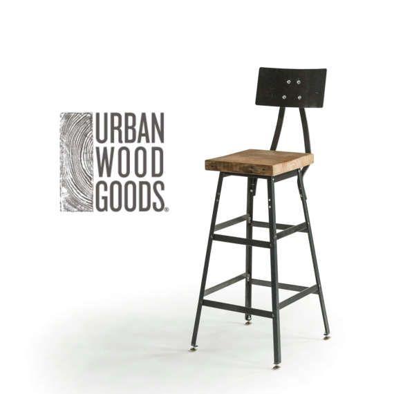 Incredible Stool With Steel Back In Three Heights 18 Table Height 25 Frankydiablos Diy Chair Ideas Frankydiabloscom