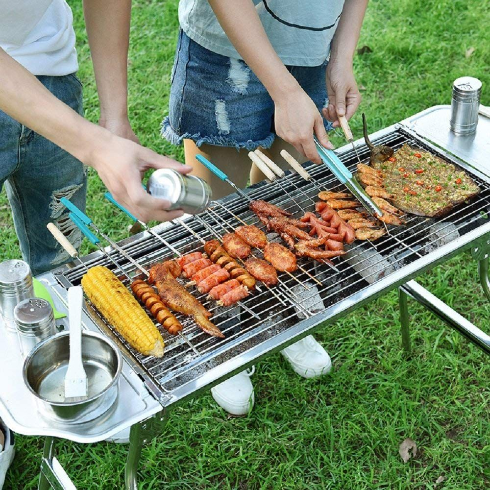 Amazon Com Miady Stainless Steel Foldable Charcoal Barbecue Grill