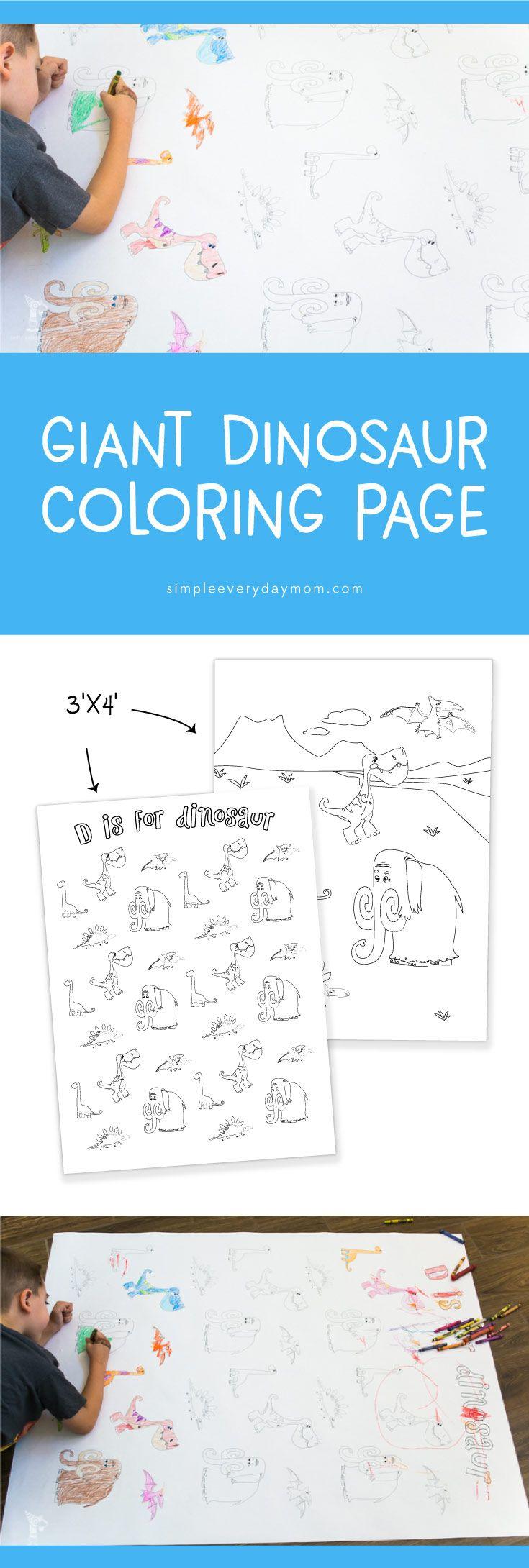 Jumbo Dinosaur Coloring Pages   Kids printable activities