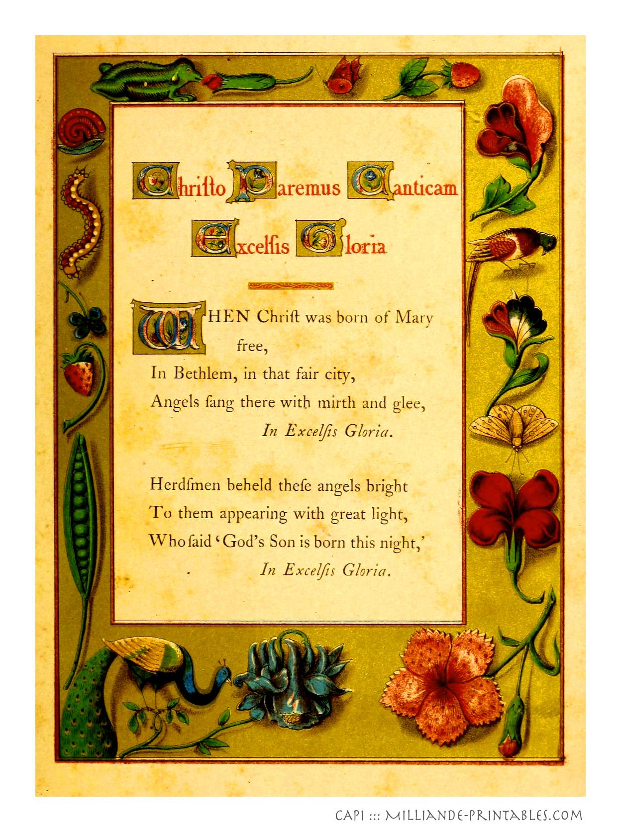 printable christmas carol lyrics pdf