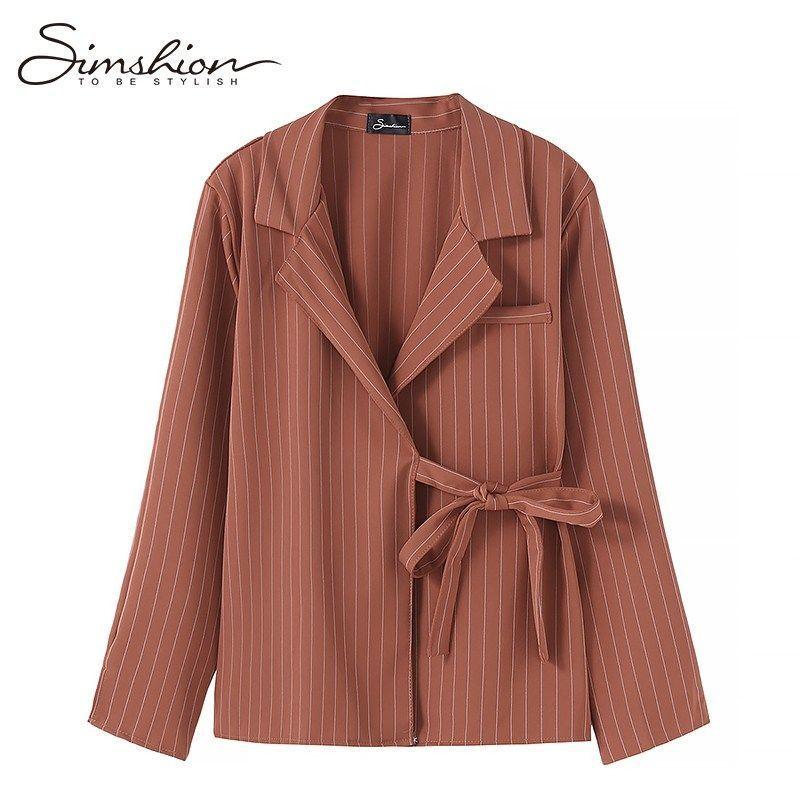 f7e22e019 Women striped blouse shirts casual long sleeve ladies shirts black orange striped  female tops one size