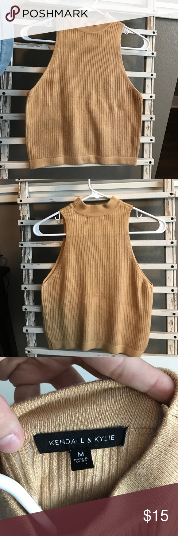 Kendall & Kylie Fitted turtle neck type top Kendall & Kylie Tops