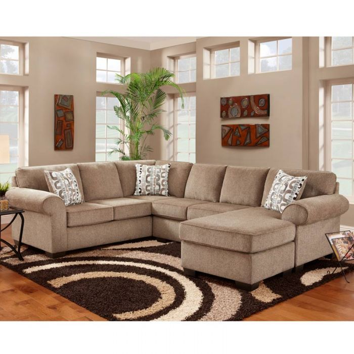 Best Jesse 3 Piece Cocoa Chenille Reversible Sectional 400 x 300