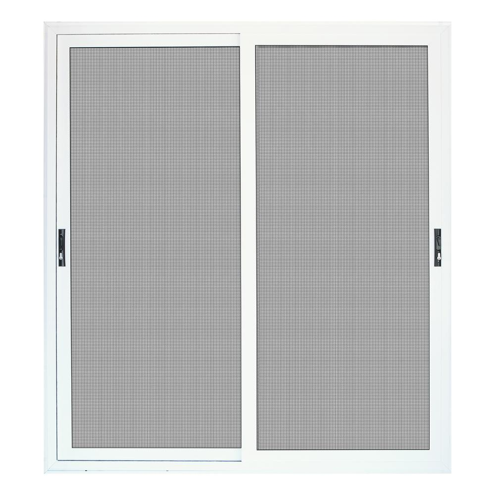 Unique Home Designs 72 In X 80 In White Sliding Ultimate Security Patio Screen Door With Meshtec Screen 5v0000kl0wh00p The Home Depot In 2020 Sliding Screen Doors Patio Screen Door Unique House Design