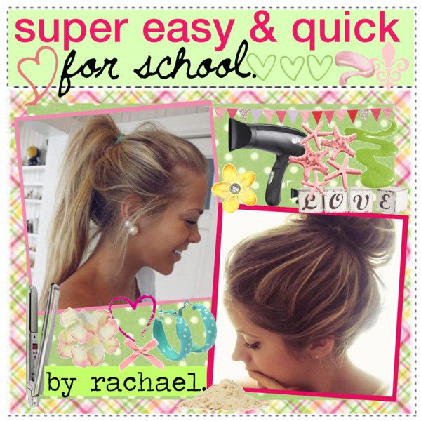 Quick Hairstyles For School Easy & Quick Hairstyles For School♥  Hairstyles  Pinterest