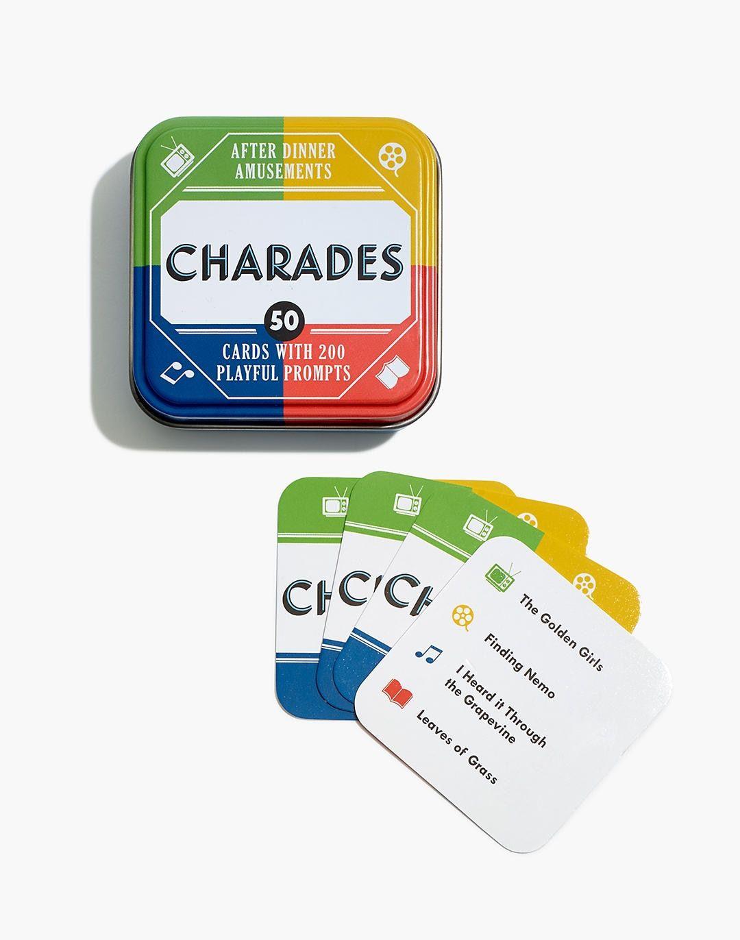 Charades Card Game Charades cards, Card games, Charades