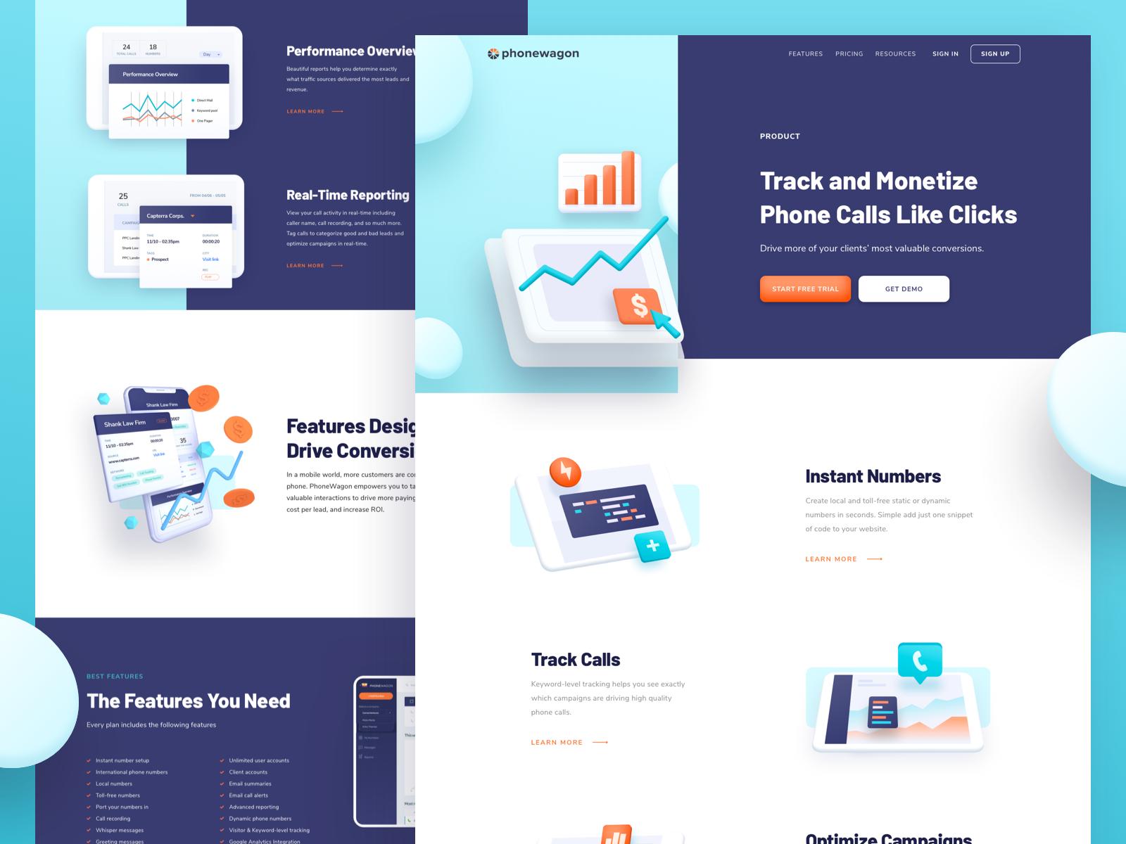 Phonewagon Features Web Design App Design Inspiration Dribbble