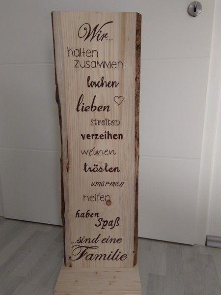 Galerie Hölzer - Schrift Sprüche in Holzschwarte Holzschilder #woodsigns
