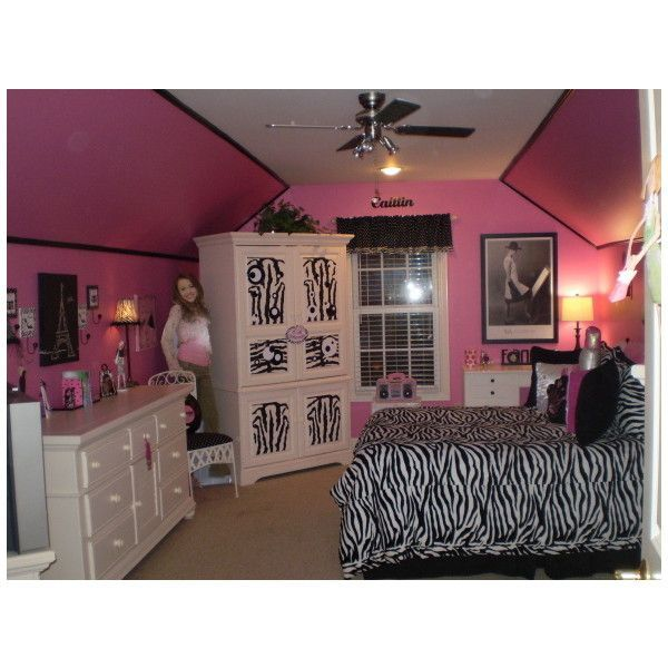 Lovely Girls Bedroom Idea Like The Zebra Print Blanket!