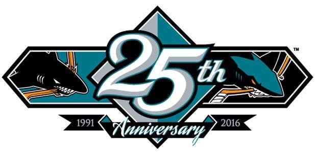 san jose sharks 25th anniversary jersey