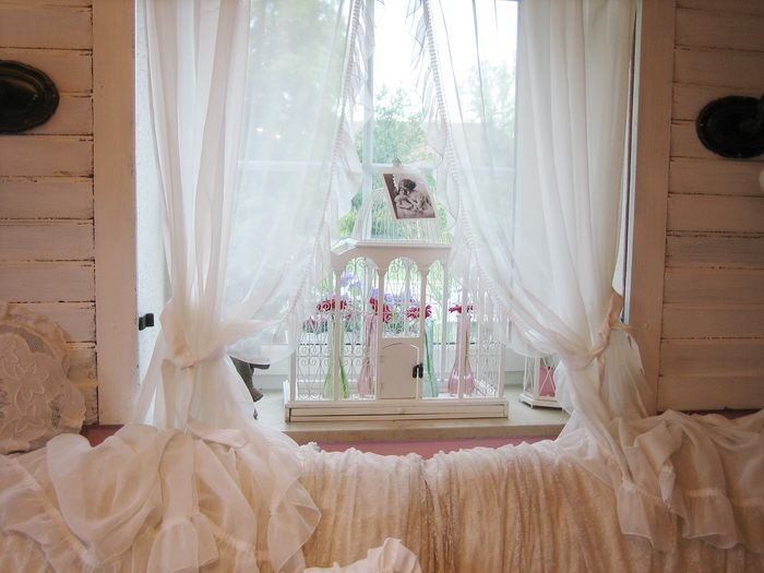 shabby chic belle blanc gardinen vorh nge r schen gem tliches heim pinterest vorh nge. Black Bedroom Furniture Sets. Home Design Ideas