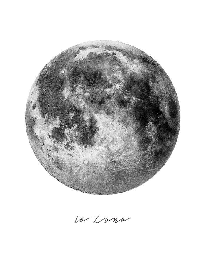 Poster mit Mond...   Zeichnen   Pinterest   Moon, Wallpaper and Prints