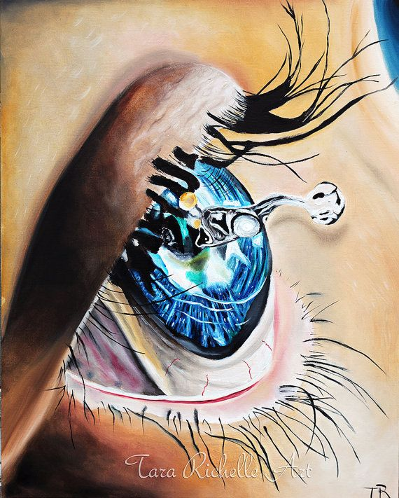 Eye Painting Tear Painting Tears Surreal Salvador Dali Surreal