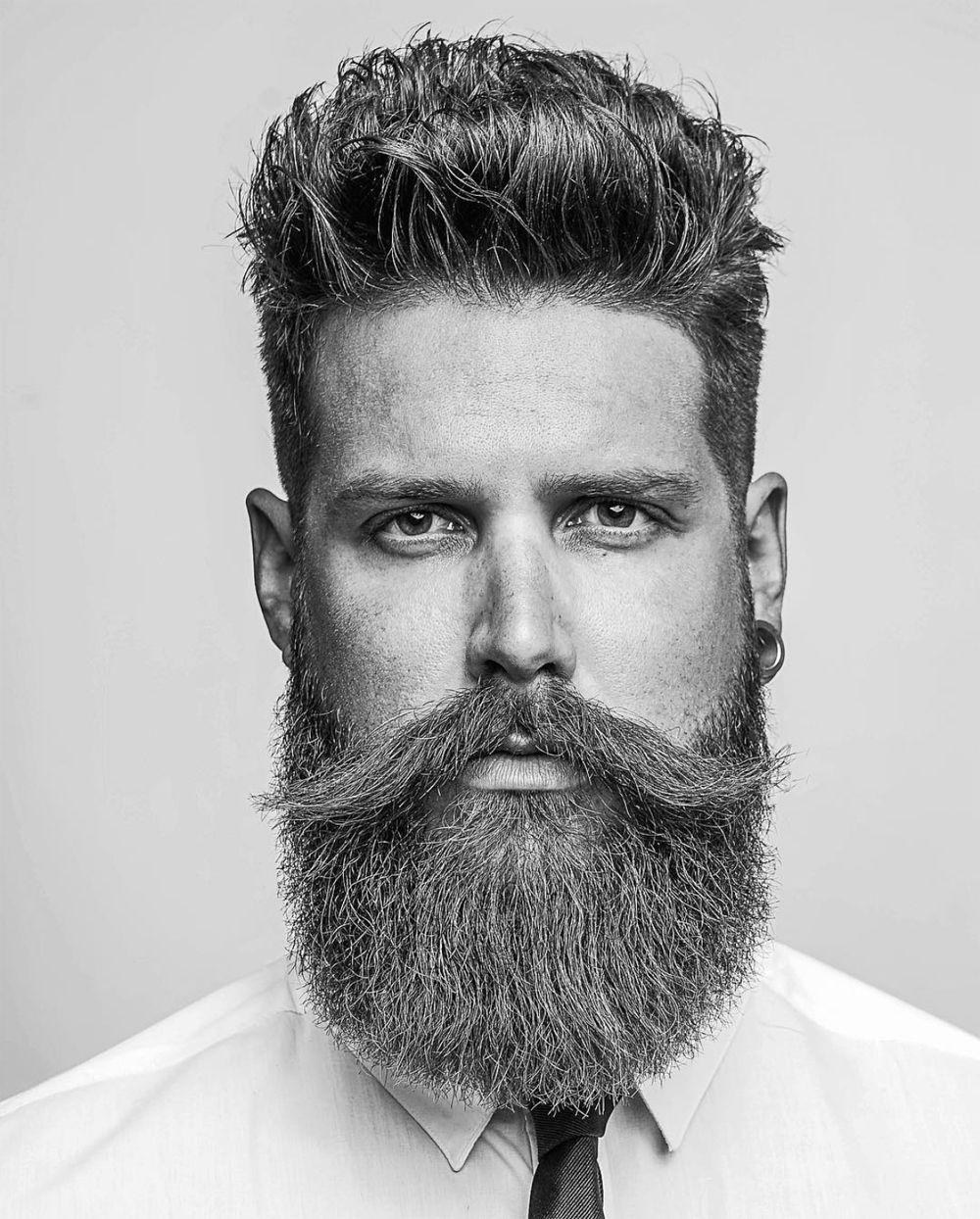Square Beard Shape A Barba Quadrada Que Esta Em Alta Marco Da Moda Penteados Quiff Barba Moderna Estilos De Cabelo E Barba