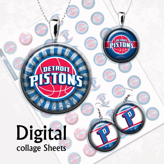NBA . Detroit Pistons. Digital Collage Sheet .  от MyMidnightMoon