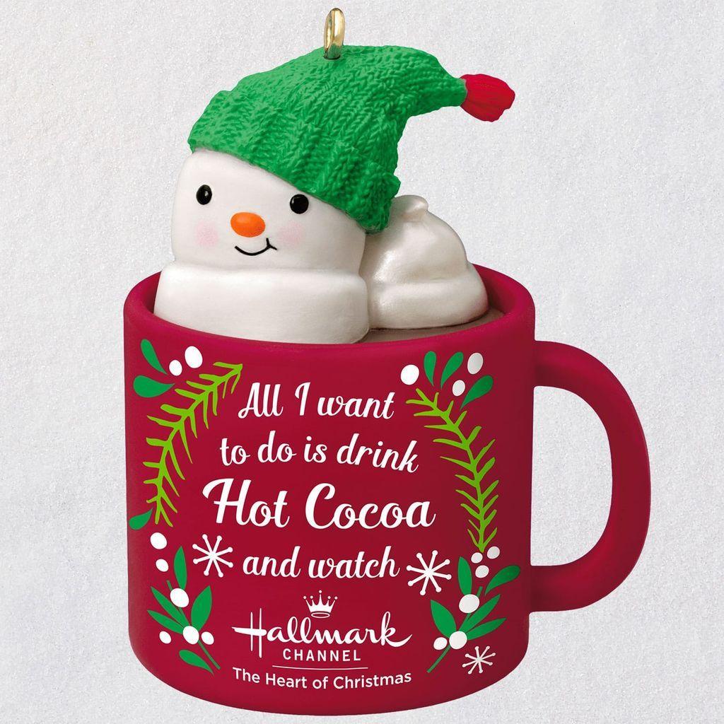 I Love Hallmark Channel! Snowman in Mug Ornament