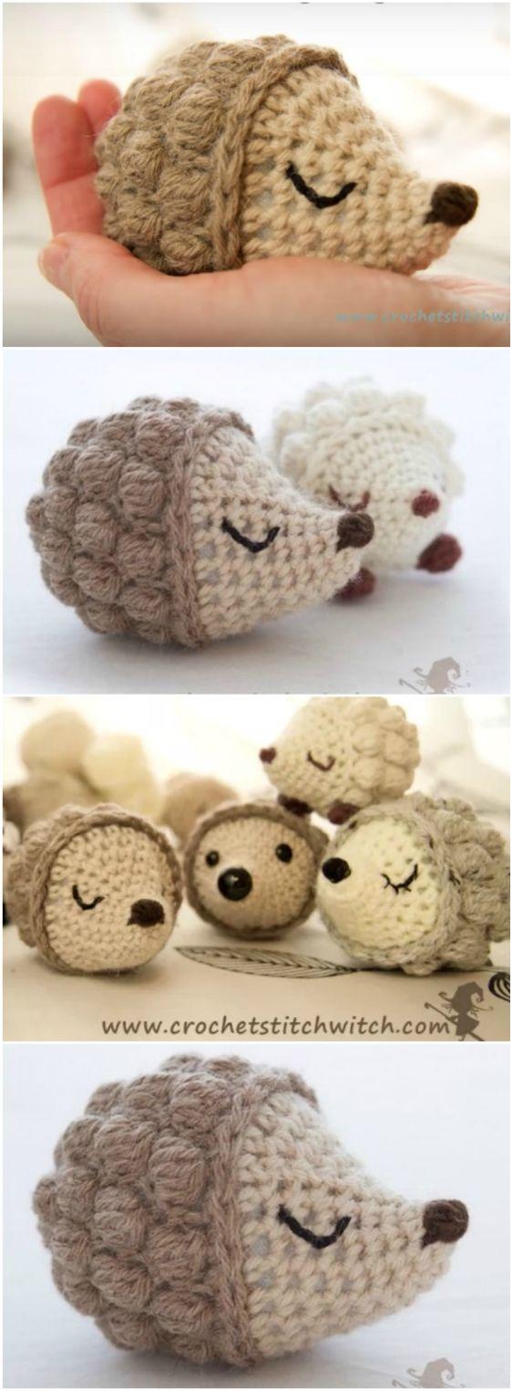 Easy Crochet Hedgehog Free Pattern {Video