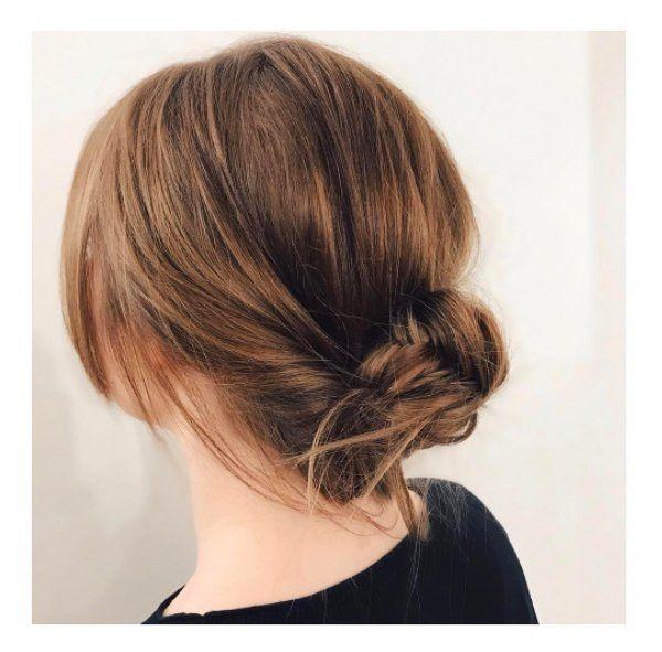 12 modèles de chignons pour cheveux mi longs Chignon
