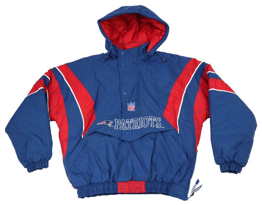 free shipping 59662 82616 Starter Mens Jacket Medium NFL Pro Line 90s New England ...