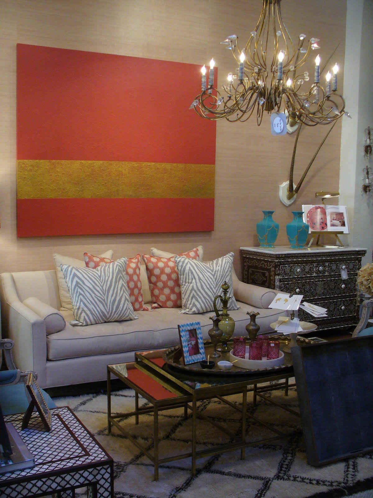 Like the coffee table and the art = trad + mod   homestyle favorites ...