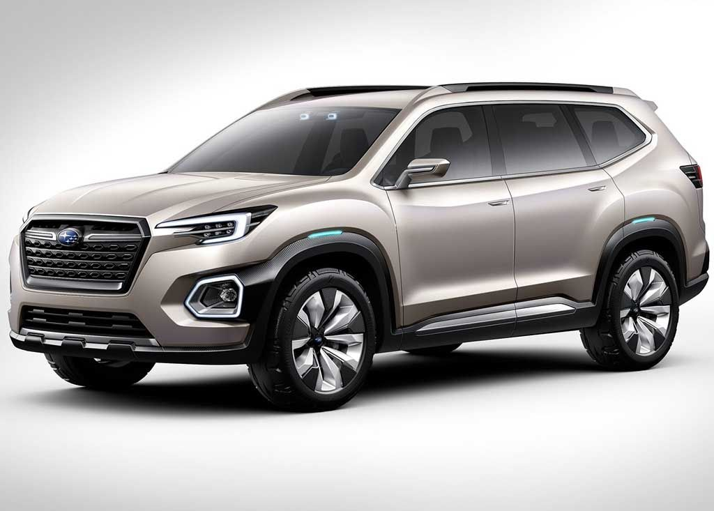 2018 Subaru 3 Row Crossover Suv Front Angle With Images Subaru