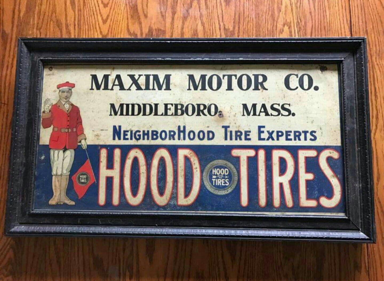 Original Hood Tires Tin Tacker Sign