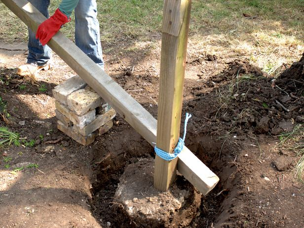 How To Put Up Fence Posts Yard Ideas And Gardening
