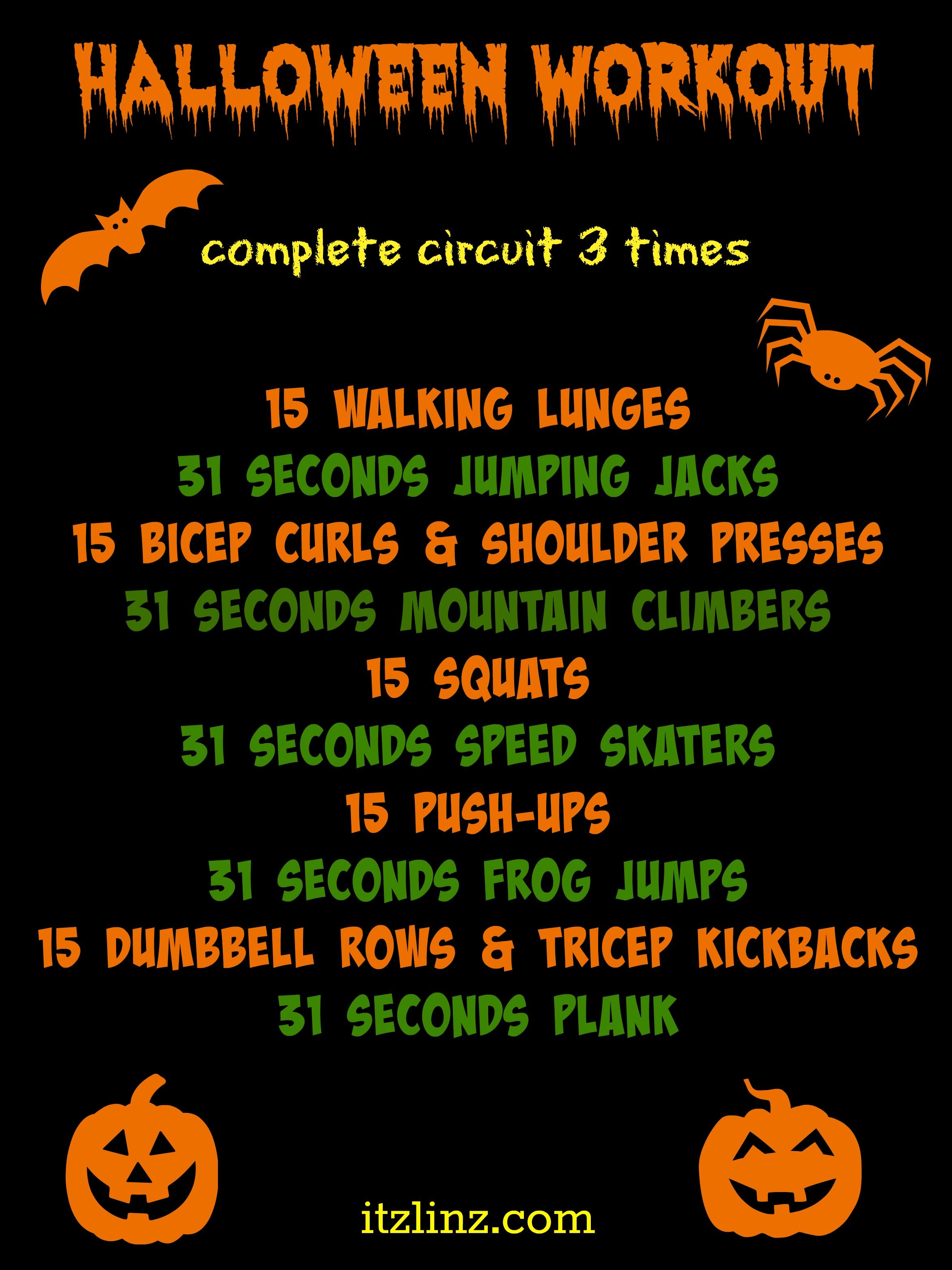 Halloween Workout , quick and sweaty, only requires a set of
