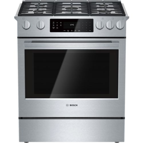 Bosch Series Gas SlideIn Stainless Steel Range HGIUC - Abt gas ranges