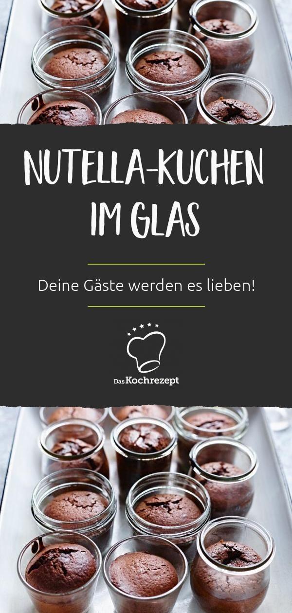 Nutella-Kuchen im Glas