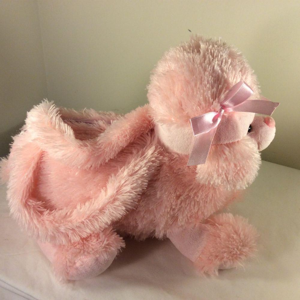 2009 Kellytoy Pack Mates Pink Poodle Purse Plush Stuffed Animal Girls Handles Dog Purse Pink Poodle Plush Stuffed Animals [ 1000 x 1000 Pixel ]