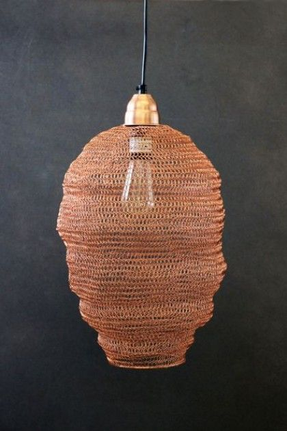 Copper Wire Netting Ceiling Light - Ceiling Pendant Lights ...