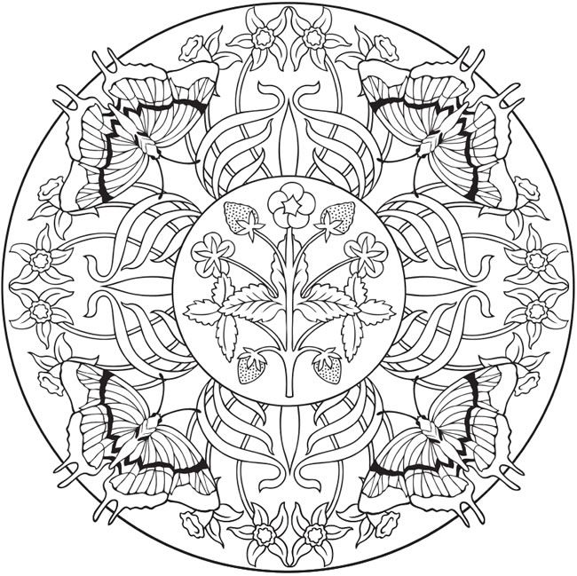 Mandalas | mariposas | Pinterest | Mandalas, Colorear y Atrapasueños