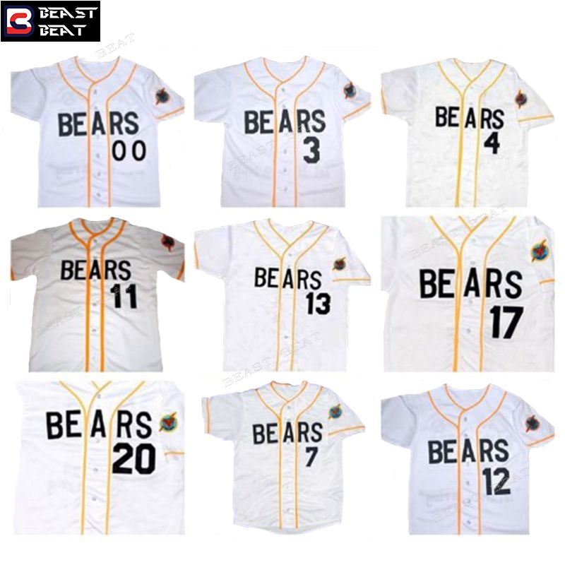 968d86c967f Baseball Jersey Bad News Bears All Numbers #0 #3 #7 #11 #13 #17 #20 #12  Tanner Boyle Throwback White Baseball Jersey Cheap MLB Original Jerseys