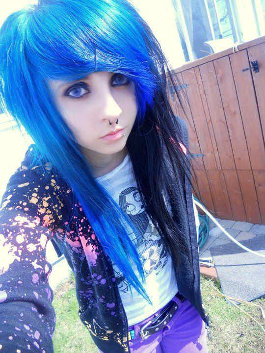 Blue Black Hair Emo Scene Hair Scene Hair Emo Girls