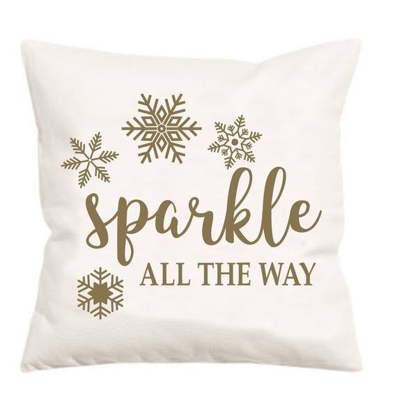 Sparkle Pillow Cover, Christmas Pillow