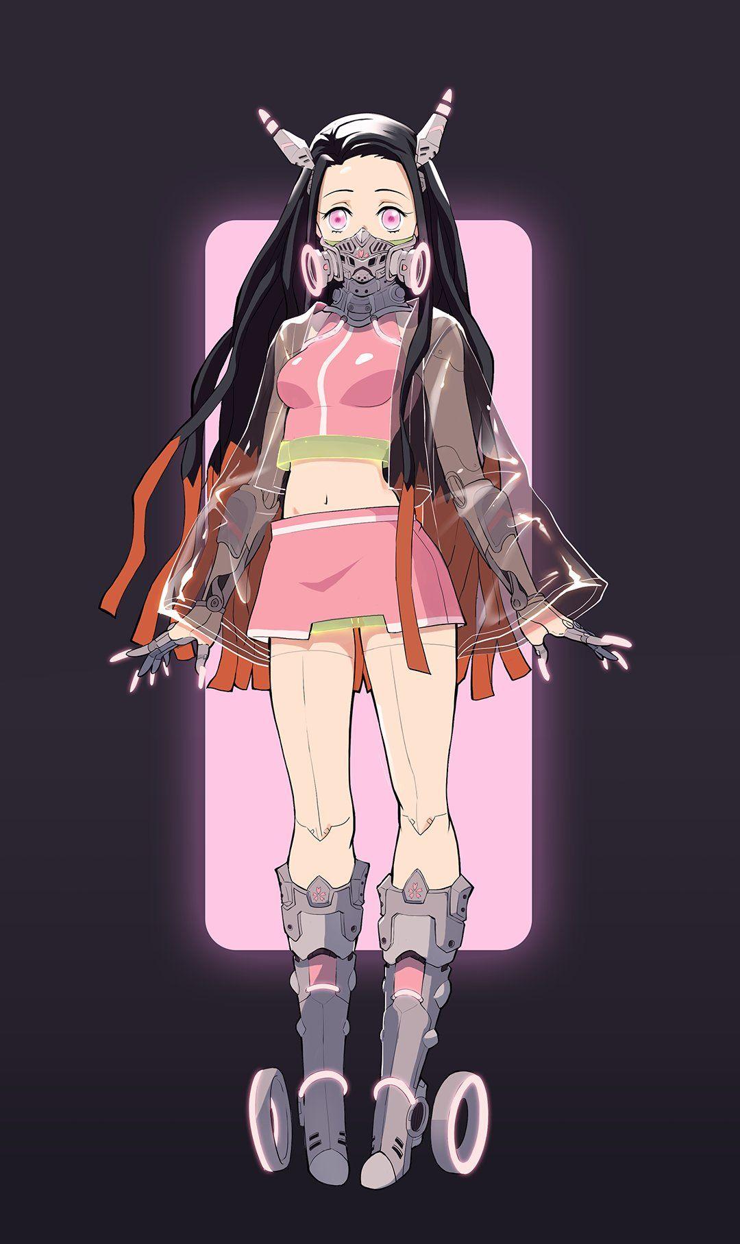 Pink Hair Anime Girl Demon Slayer Characters