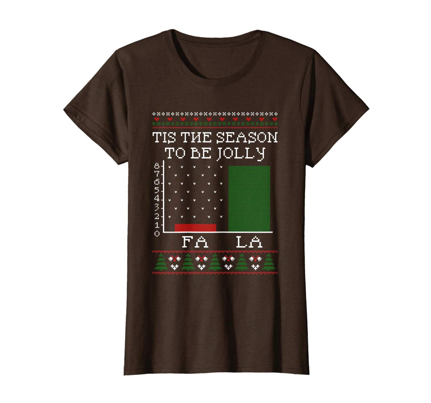 Christmas Carol Bar Graph Funny Math Holiday Fla La La T