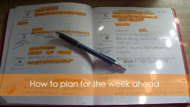How to plan for the week ahead #organisedlife