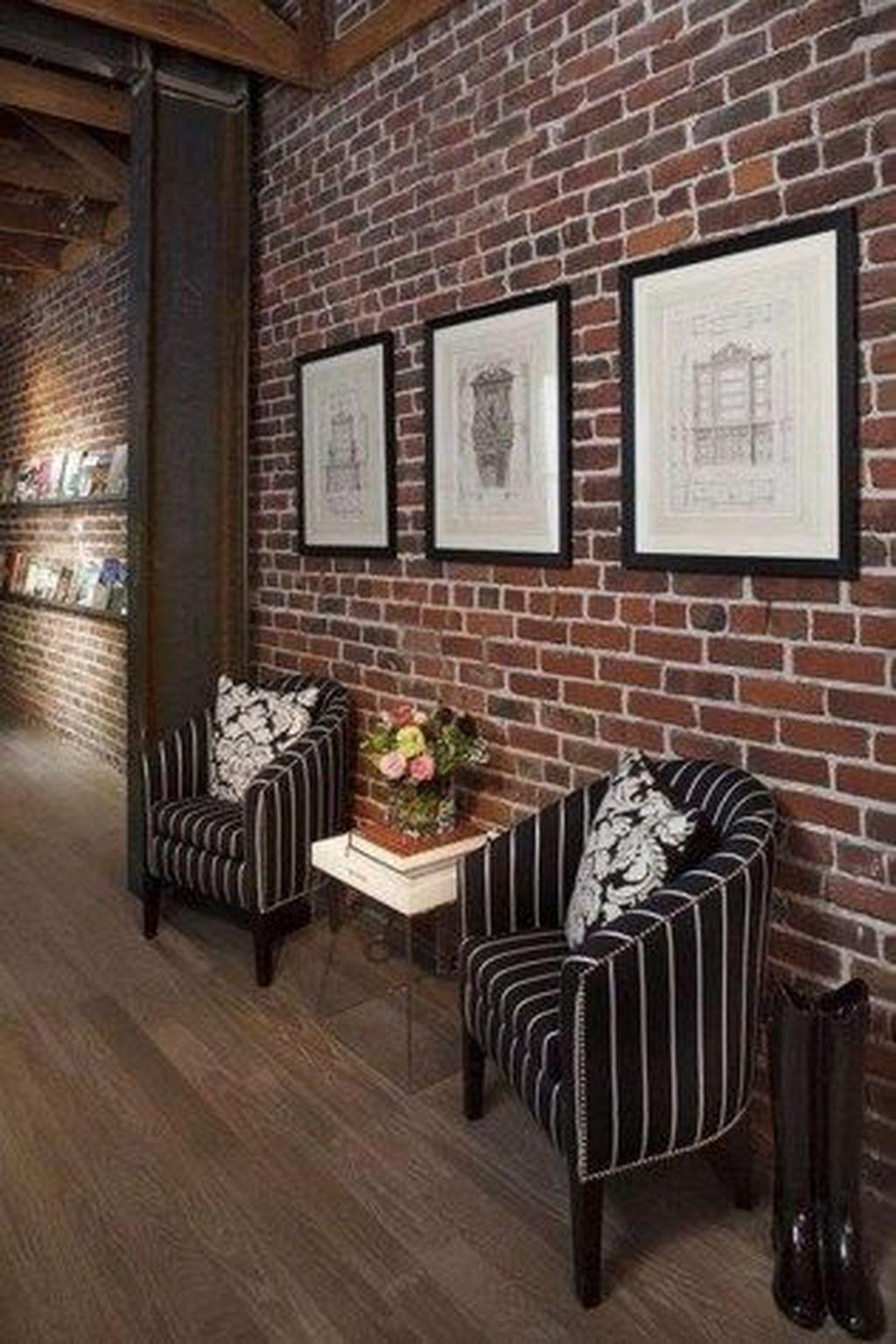 20 Delicate Exposed Brick Wall Ideas For Interior Home Design Brick Interior Brick Wall Living Room Brick Wall Decor