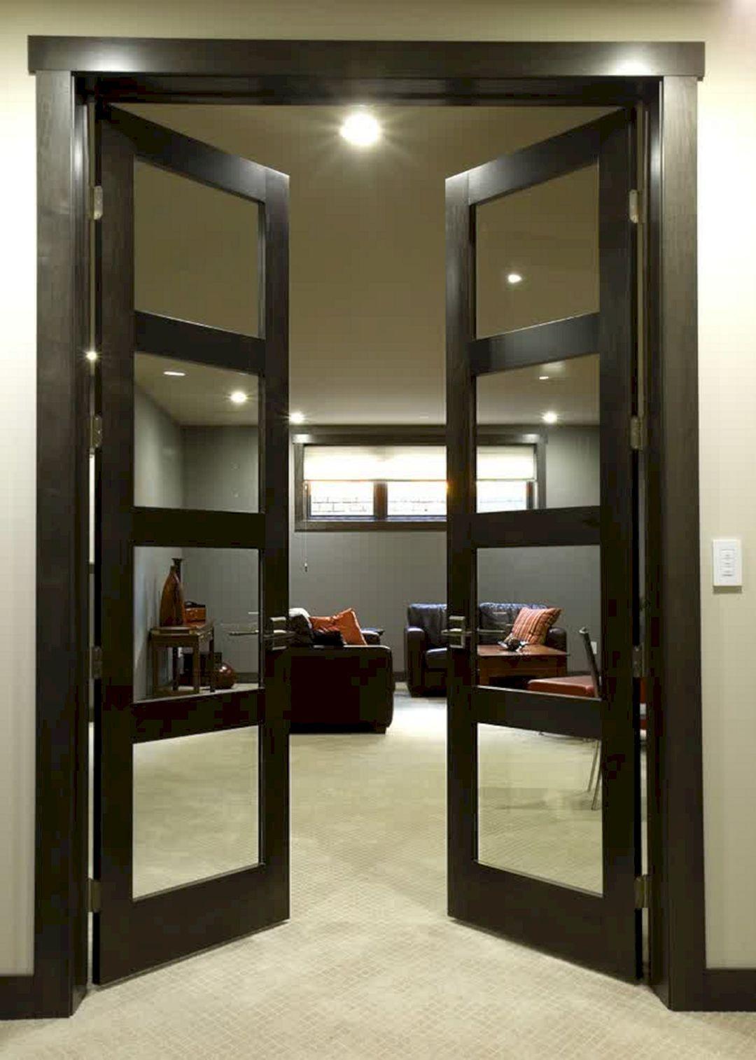30 Elegant Black Door Ideas For Amazing Inspiration Freshouz Com French Doors Interior Doors Interior Modern Doors Interior