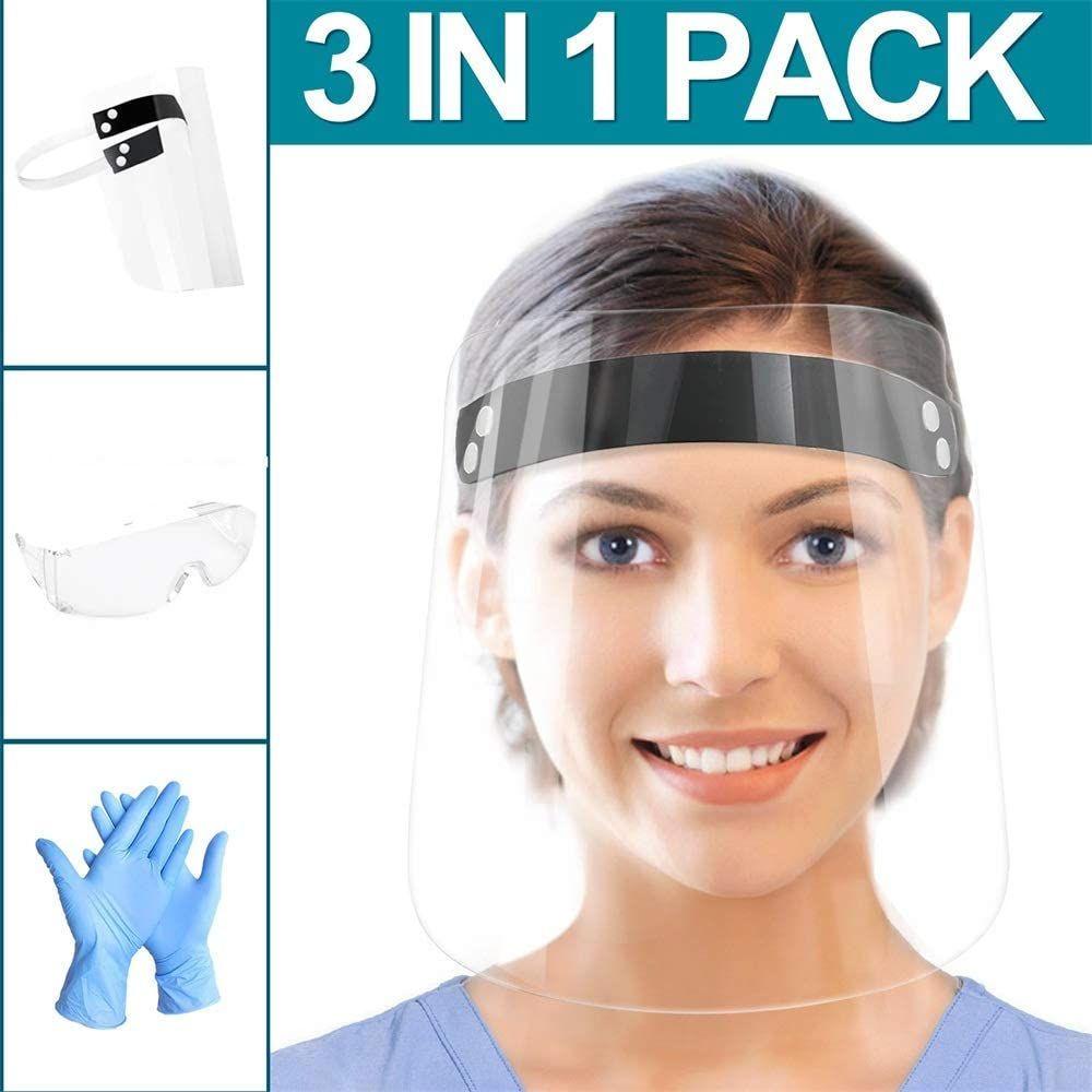 Protective shield safety goggles for men and women