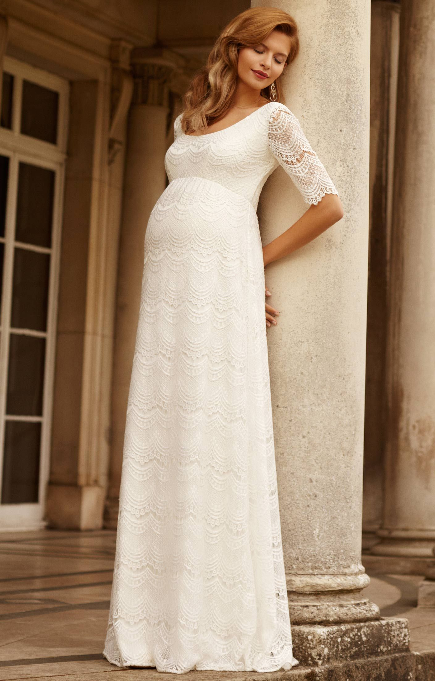 89c163044130 Verona Maternity Wedding Gown (Ivory) - Maternity Wedding Dresses, Evening  Wear and Party Clothes by Tiffany Rose US