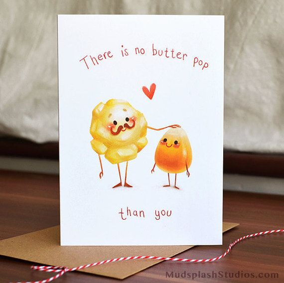 """Share this funny father's day card with """"no butter pop"""" than your dad. Great for Fathers Day, celebrating your dads birthday, or just to say"""
