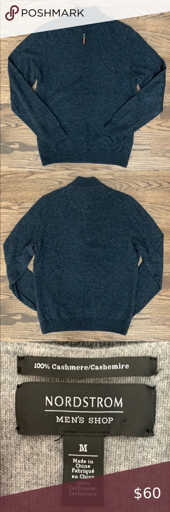 Nordstrom Men's Shop Cashmere Sweater Spotted whil