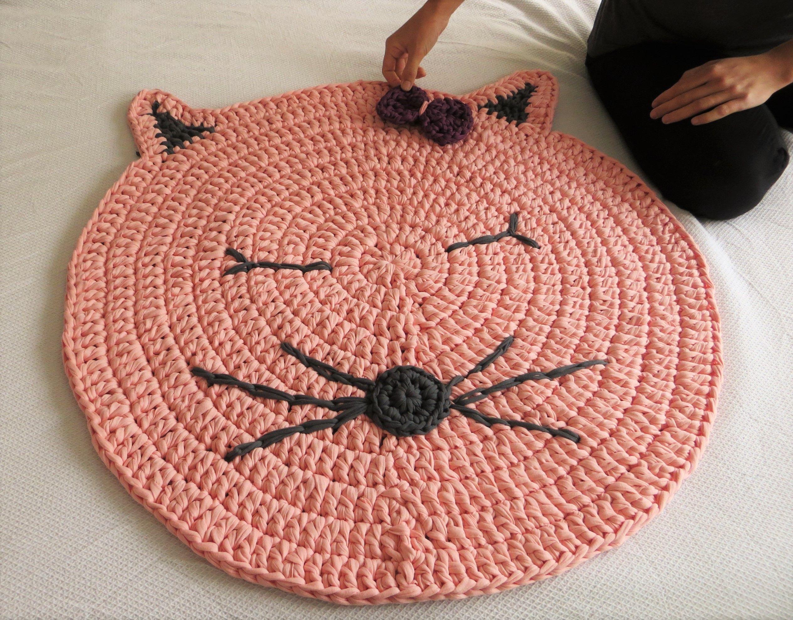 alfombra de trapillo para nios y bebes hecha a mano muy utilizada para hacer