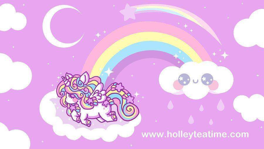 Kawaii Rainbow Unicorn Pegasus By Miemie Chan3 Deviantart Com Wallpaper Unicorn Wallpaper Pelangi Wallpaper Iphone